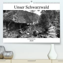 Unser Schwarzwald in Monochrome (Premium, hochwertiger DIN A2 Wandkalender 2020, Kunstdruck in Hochglanz) von Laue,  Ingo