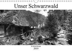 Unser Schwarzwald in Monochrome (Wandkalender 2019 DIN A4 quer) von Laue,  Ingo