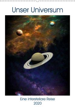 Unser Universum eine interstellare Reise (Wandkalender 2020 DIN A2 hoch) von Gaymard,  Alain