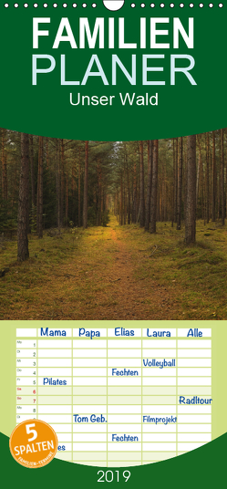 Unser Wald – Magische Sichten in norddeutsche Wälder – Familienplaner hoch (Wandkalender 2019 , 21 cm x 45 cm, hoch) von Langenkamp (dieimwaldlebt),  Heike