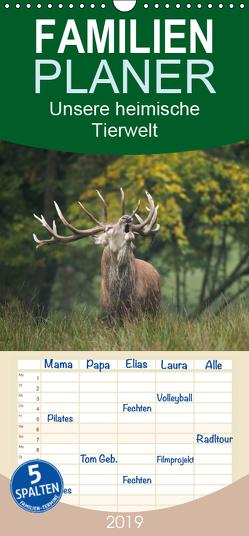 Unsere heimische Tierwelt – Familienplaner hoch (Wandkalender 2019 , 21 cm x 45 cm, hoch) von Reibert,  Björn