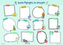 Unsere Highlights im Schuljahr – ein Überblicksposter, A1 von Verlag an der Ruhr,  Redaktionsteam