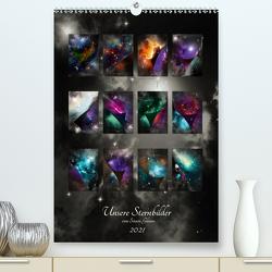 Unsere Sternbilder (Premium, hochwertiger DIN A2 Wandkalender 2021, Kunstdruck in Hochglanz) von Glimm,  Simon