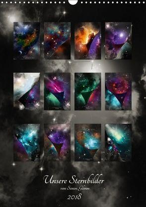 Unsere Sternbilder (Wandkalender 2018 DIN A3 hoch) von Glimm,  Simon