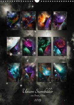 Unsere Sternbilder (Wandkalender 2019 DIN A3 hoch) von Glimm,  Simon