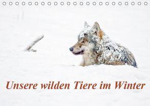 Unsere wilden Tiere im Winter (Tischkalender 2019 DIN A5 quer) von GDT, Martin,  Wilfried
