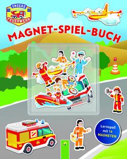 Unserer Feuerwehr Magnet-Spiel-Buch von Gianno,  Tommaso