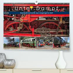 Unter Dampf – Eisenbahnromantik aus vergangener Zeit (Premium, hochwertiger DIN A2 Wandkalender 2020, Kunstdruck in Hochglanz) von Härlein,  Peter