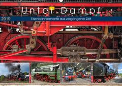 Unter Dampf – Eisenbahnromantik aus vergangener Zeit (Wandkalender 2019 DIN A2 quer) von Härlein,  Peter