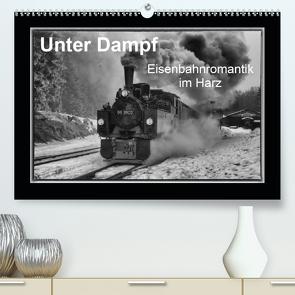Unter Dampf – Eisenbahnromantik im Harz (Premium, hochwertiger DIN A2 Wandkalender 2020, Kunstdruck in Hochglanz) von Maurer,  Marion