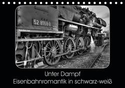Unter Dampf – Eisenbahnromantik in schwarz-weiß (Tischkalender 2021 DIN A5 quer) von Härlein,  Peter