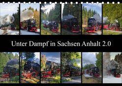 Unter Dampf in Sachsen Anhalt 2.0 (Tischkalender 2019 DIN A5 quer) von Gierok,  Steffen