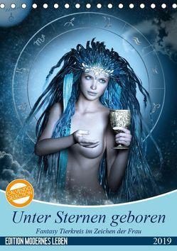 Unter Sternen geboren – Fantasy Tierkreis im Zeichen der Frau (Tischkalender 2019 DIN A5 hoch) von Glodde,  Britta