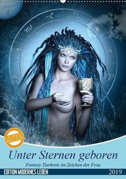 Unter Sternen geboren – Fantasy Tierkreis im Zeichen der Frau (Wandkalender 2019 DIN A2 hoch) von Glodde,  Britta