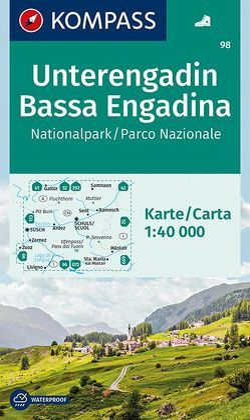 Unterengadin, Bassa Engadina, Nationalpark, Parco Nazionale von KOMPASS-Karten GmbH