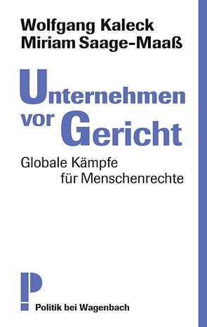Unternehmen vor Gericht von Miriam,  Saage-Maaß, Wolfgang,  Kaleck