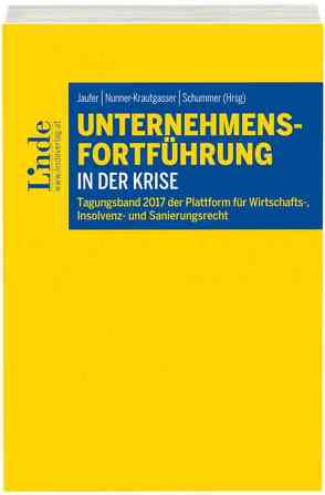 Unternehmensfortführung in der Krise von Jaufer,  Clemens, Nunner-Krautgasser,  Bettina, Schummer,  Gerhard