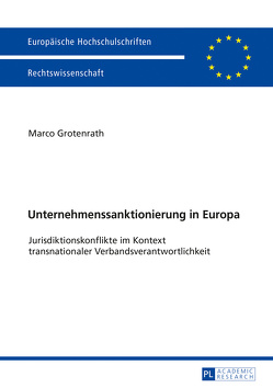 Unternehmenssanktionierung in Europa von Grotenrath,  Marco
