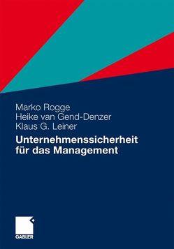 Unternehmenssicherheit für das Management von Rogge,  Marko
