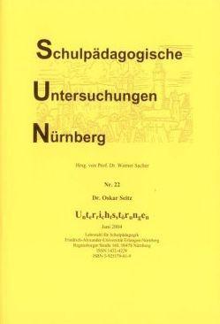 Unterrichtsstörungen von Sacher,  Werner, Seitz,  Oskar