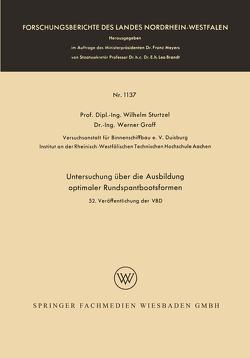 Untersuchung über die Ausbildung optimaler Rundspantbootsformen von Sturtzel,  Wilhelm