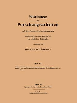 Untersuchung über die Verbrennung methanhaltiger Gasgemische von Bucher,  Willy, Camerer,  Rudolf