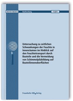 Untersuchung zu zeitlichen Schwankungen der Feuchte in Innenräumen im Hinblick auf den Feuchtetransport durch Bauteile und die Vermeidung von Schimmelpilzbildung auf Bauteilinnenoberflächen. von Ackermann,  Thomas