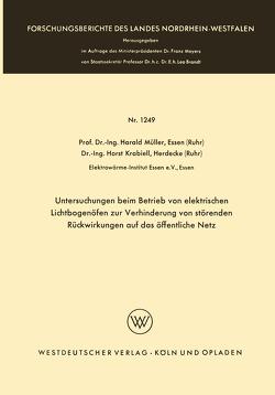 Untersuchungen beim Betrieb von elektrischen Lichtbogenöfen zur Verhinderung von störenden Rückwirkungen auf das öffentliche Netz von Mueller,  Harald