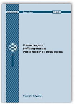 Untersuchungen zu Stofftransporten aus Injektionssohlen bei Trogbaugruben. Abschlussbericht. von Allinger,  M., Borchert,  K.-M., Terytze,  K., Wagner,  R.
