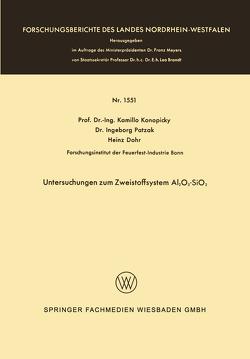 Untersuchungen zum Zweistoffsystem Al2O3-SiO2 von Konopicky,  Kamillo