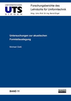 Untersuchungen zur akustischen Formteilauslegung von Gieß,  Michael
