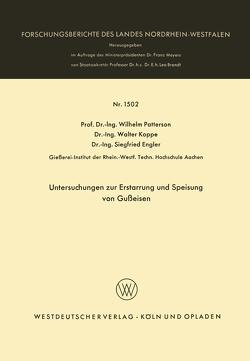 Untersuchungen zur Erstarrung und Speisung von Gußeisen von Patterson,  Wilhelm