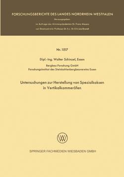 Untersuchungen zur Herstellung von Spezialkoksen in Vertikalkammeröfen von Schinzel,  Walter
