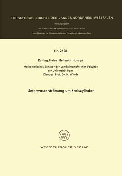 Unterwasserströmung um Kreiszylinder von Hansen,  Heinz Hellmuth