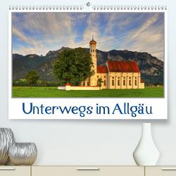 Unterwegs im Allgäu (Premium, hochwertiger DIN A2 Wandkalender 2021, Kunstdruck in Hochglanz) von Wenk,  Marcel