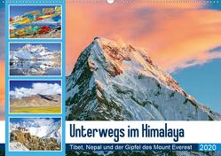 Unterwegs im Himalaya: Tibet, Nepal und der Gipfel des Mount Everest (Wandkalender 2020 DIN A2 quer) von CALVENDO