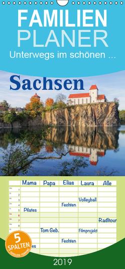 Unterwegs im schönen Sachsen – Familienplaner hoch (Wandkalender 2019 , 21 cm x 45 cm, hoch) von LianeM
