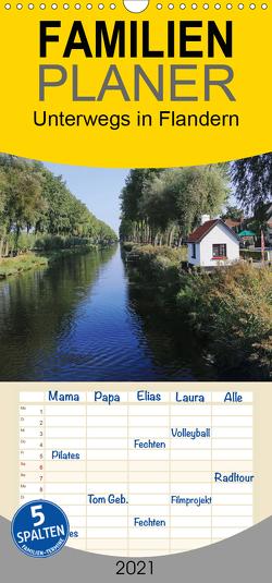 Unterwegs in Flandern – Familienplaner hoch (Wandkalender 2021 , 21 cm x 45 cm, hoch) von Nitzold-Briele,  Gudrun