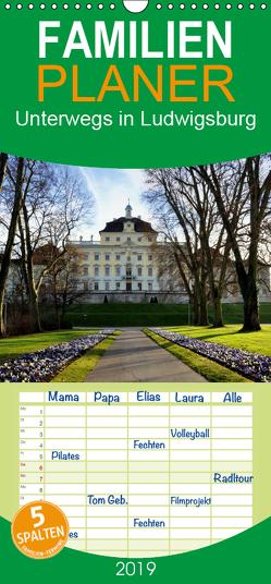 Unterwegs in Ludwigsburg – Familienplaner hoch (Wandkalender 2019 , 21 cm x 45 cm, hoch) von Furkert,  Nicola