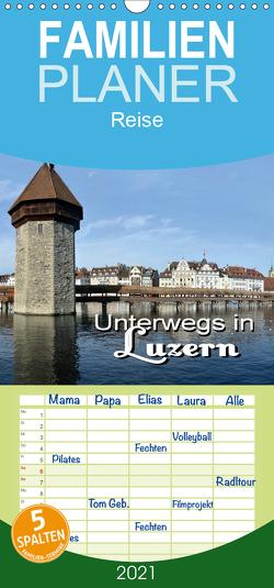 Unterwegs in Luzern – Familienplaner hoch (Wandkalender 2021 , 21 cm x 45 cm, hoch) von Bartruff,  Thomas