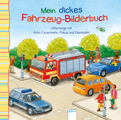 Unterwegs mit Auto, Feuerwehr, Polizei und Eisenbahn von Bartl,  Ulla, Grimm,  Sandra, Nicolas,  Birgitta