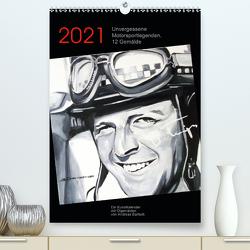 Unvergessene Motorsportlegenden, 12 Gemälde (Premium, hochwertiger DIN A2 Wandkalender 2021, Kunstdruck in Hochglanz) von Bartsch,  Andreas