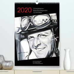 Unvergessene Motorsportlegenden, 12 Gemälde (Premium, hochwertiger DIN A2 Wandkalender 2020, Kunstdruck in Hochglanz) von Bartsch,  Andreas