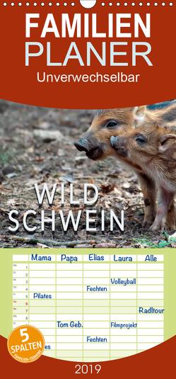 Unverwechselbar – Wildschwein – Familienplaner hoch (Wandkalender 2019 , 21 cm x 45 cm, hoch) von Roder,  Peter