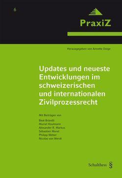 Updates und neueste Entwicklungen im schweizerischen und internationalen Zivilprozessrecht von Dolge,  Annette