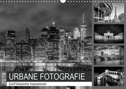 URBANE FOTOGRAFIE Zwölf klassische Impressionen (Wandkalender 2019 DIN A3 quer) von Viola,  Melanie