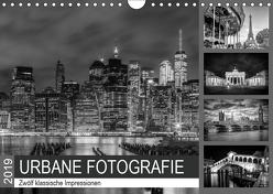 URBANE FOTOGRAFIE Zwölf klassische Impressionen (Wandkalender 2019 DIN A4 quer) von Viola,  Melanie