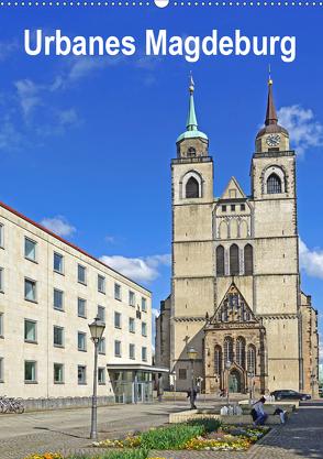 Urbanes Magdeburg (Wandkalender 2020 DIN A2 hoch) von Bussenius,  Beate