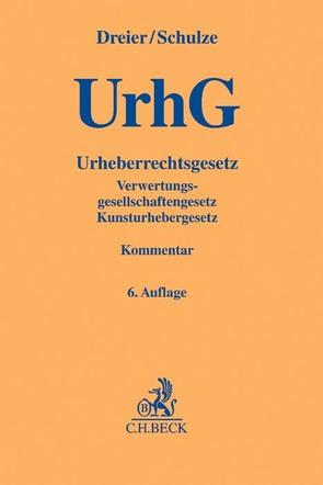 Urheberrechtsgesetz von Dreier,  Thomas, Schulze,  Gernot, Specht,  Louisa
