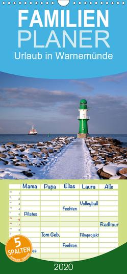 Urlaub in Warnemünde – Familienplaner hoch (Wandkalender 2020 , 21 cm x 45 cm, hoch) von Deter,  Thomas